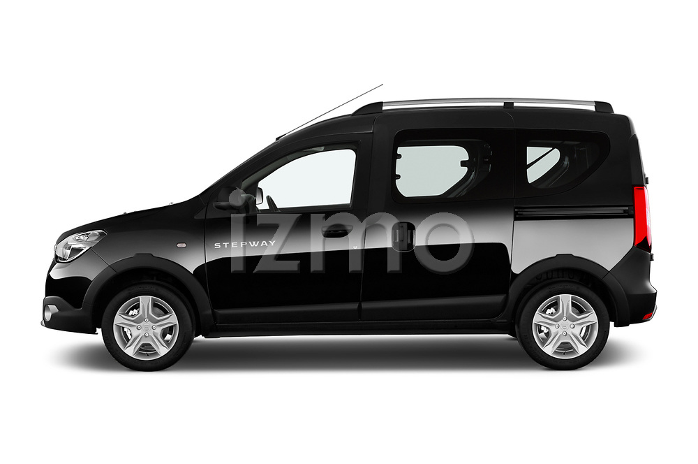 Car driver side profile view of a 2017 Dacia Dokker Stepway SL Explorer 5 Door Mini Van