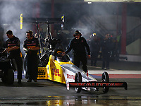 Apr 20, 2018; Baytown, TX, USA; Crew members for NHRA top fuel driver Richie Crampton during qualifying for the Springnationals at Royal Purple Raceway. Mandatory Credit: Mark J. Rebilas-USA TODAY Sports