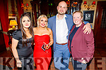 Sarah Sestini, Kelly Sheahan, Mike Mazurek and Sarah Carey enjoying the Manor West and Ashe Hotel party in the Grand Hotel on Sunday.