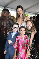 WESTWOOD, CA - NOVEMBER 5: Alessandra Amborsio, Owen Vaccaro, Didi Costine and Scarlett Estevez at the premiere of Daddy's Home 2 at the Regency Village Theater in Westwood, California on November 5, 2017. Credit: Faye Sadou/MediaPunch