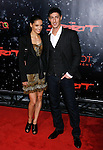 "HOLLYWOOD, CA. - December 17: Actor Eric Balfour (R) and Actress Leonor Varela  arrive at the Los Angeles premiere of ""The Spirit"" at the Grauman's Chinese Theater on December 17, 2008 in Hollywood, California."