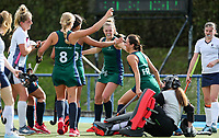 St Cuthberts College celebrate, Federation Cup Hockey semi-final, St Cuthbert's v Diocesan. Lloyd Elsmore Park, Auckland, New Zealand, Friday 6 September 2019. Photo: Simon Watts/www.bwmedia.co.nz/HockeyNZ
