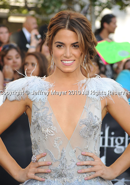"""LOS ANGELES, CA. - June 24: Nikki Reed arrives to the premiere of """"The Twilight Saga: Eclipse"""" during the 2010 Los Angeles Film Festival at Nokia Theatre L.A. Live on June 24, 2010 in Los Angeles, California."""