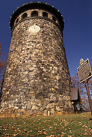 AJ3303, tower, Delaware, autumn, Wilmington, An old stone, water tower in Rockford Park in Wilmington in the state of Delaware.