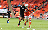 Bradford City's Kelvin Mellor and Blackpool's Harry Pritchard<br /> <br /> Photographer Rachel Holborn/CameraSport<br /> <br /> The EFL Sky Bet League One - Blackpool v Bradford City - Saturday September 8th 2018 - Bloomfield Road - Blackpool<br /> <br /> World Copyright &copy; 2018 CameraSport. All rights reserved. 43 Linden Ave. Countesthorpe. Leicester. England. LE8 5PG - Tel: +44 (0) 116 277 4147 - admin@camerasport.com - www.camerasport.com