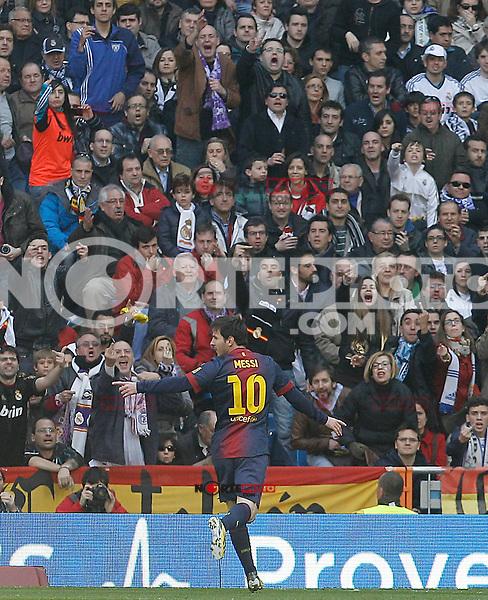 FC Barcelona's Leo Messi celebrates goal during La Liga match.March 02,2013. (ALTERPHOTOS/Acero) /NortePhoto