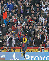 FC Barcelona's Leo Messi celebrates goal during La Liga match.March 02,2013. (ALTERPHOTOS/Acero) /NortePhoto