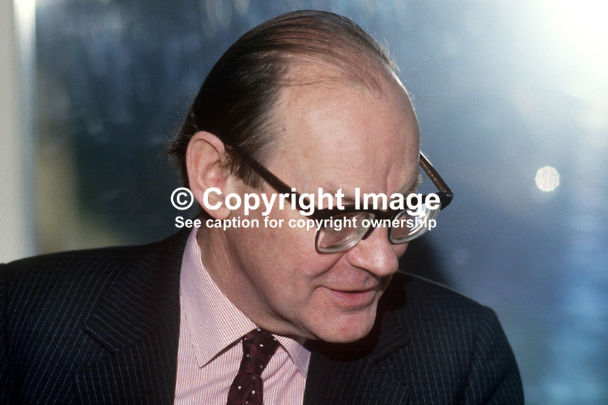 Sir Robert Andrew, Permanent Under Secretary, N Ireland Office, Stormont Castle, N Ireland, 198601115RA2..Copyright Image from Victor Patterson, 54 Dorchester Park, Belfast, United Kingdom, UK...For my Terms and Conditions of Use go to http://www.victorpatterson.com/Victor_Patterson/Terms_%26_Conditions.html