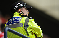 A police officer watches on from the stands<br /> <br /> Photographer Kevin Barnes/CameraSport<br /> <br /> The EFL Sky Bet Championship - Preston North End v Barnsley - Saturday 5th October 2019 - Deepdale Stadium - Preston<br /> <br /> World Copyright © 2019 CameraSport. All rights reserved. 43 Linden Ave. Countesthorpe. Leicester. England. LE8 5PG - Tel: +44 (0) 116 277 4147 - admin@camerasport.com - www.camerasport.com
