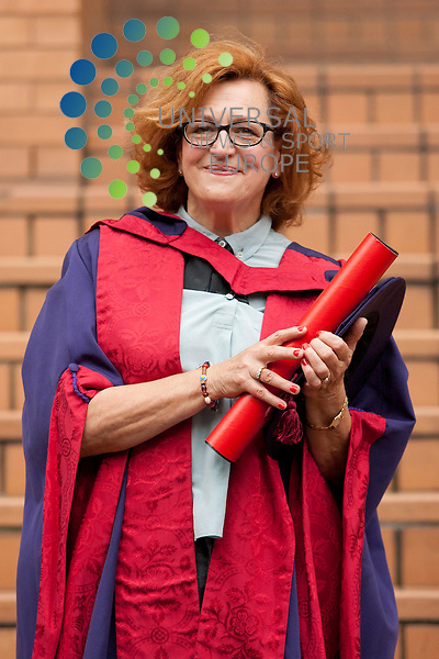 Pictured: Actress Barbara Dickson. Violinist Nicola Benedetti receives honorary doctorate from the Royal Conservatoire of Scotland. Honorary degrees were also given to actress Barbara Dickson, and Director David Hayman. Royal Conservatoire of Scotland, Glasgow. Picture: Jonathan Faulds / Universal News And Sport (Europe)