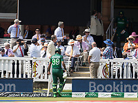 Fakhar Zaman (Pakistan) trudges back to the pavilion following his early dismissal during Pakistan vs Bangladesh, ICC World Cup Cricket at Lord's Cricket Ground on 5th July 2019
