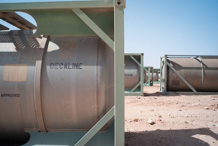 Unguarded chemical containers in the Sahara Desert, Libya, Wednesday, October 26, 2011. With the civil war over, one of Libya's biggest obstacles will be securing the huge stockpiles of weapons and preventing dangerous materials from falling into the wrong hands.