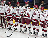 Cameron Gornet (Harvard - 32), Nathan Krusko (Harvard - 13), John Marino (Harvard - 12), Wiley Sherman (Harvard - 25), Sean Malone (Harvard - 17), Ryan Donato (Harvard - 16) - The Harvard University Crimson defeated the Providence College Friars 3-0 in their NCAA East regional semi-final on Friday, March 24, 2017, at Dunkin' Donuts Center in Providence, Rhode Island.