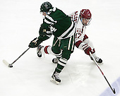 Grant Opperman (Dartmouth - 14), Sean Malone (Harvard - 17) - The Harvard University Crimson defeated the Dartmouth College Big Green 5-2 to sweep their weekend series on Sunday, November 1, 2015, at Bright-Landry Hockey Center in Boston, Massachusetts. -