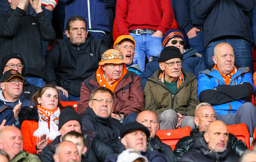 Blackpool fans enjoy the atmosphere<br /> <br /> Photographer Alex Dodd/CameraSport<br /> <br /> The EFL Sky Bet League One - Barnsley v Blackpool - Saturday 27th April 2019 - Oakwell - Barnsley<br /> <br /> World Copyright © 2019 CameraSport. All rights reserved. 43 Linden Ave. Countesthorpe. Leicester. England. LE8 5PG - Tel: +44 (0) 116 277 4147 - admin@camerasport.com - www.camerasport.com