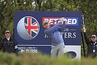 Stephen Gallacher (SCO) on the 3rd tee during Round 2 of the Betfred British Masters 2019 at Hillside Golf Club, Southport, Lancashire, England. 10/05/19<br /> <br /> Picture: Thos Caffrey / Golffile<br /> <br /> All photos usage must carry mandatory copyright credit (&copy; Golffile | Thos Caffrey)