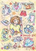 Interlitho, Dani, TEENAGERS, paintings, trendy girl(KL4042,#J#) Jugendliche, jóvenes, illustrations, pinturas ,everyday