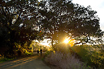A couple walks along the Poly Canyon trail, which is located on the Cal Poly Campus in San Luis Obispo, California December 21, 2014.