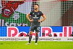 07.10.2018, Red Bull Arena, Leipzig, GER, 1. FBL 2018/2019, RB Leipzig vs. 1. FC N&uuml;rnberg/Nuernberg,<br /> <br /> DFL REGULATIONS PROHIBIT ANY USE OF PHOTOGRAPHS AS IMAGE SEQUENCES AND/OR QUASI-VIDEO.<br /> <br /> im Bild<br /> <br /> <br /> Entt&auml;uschte Gesichter nach der 0:6 Niederlage bei den Spielern vom 1. FC N&uuml;rnberg<br /> <br /> Eduard Loewen (#17, 1. FC Nuernberg), <br /> <br /> Foto &copy; nordphoto / Dostmann