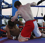 Devin Conkling defeated Vincent Martinez in the mixed martial arts bout.   Photo by Tom Smedes.