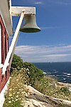 Large Bell,View of Maine coast from Pemaquid Light.