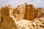 General view Shivta (Sobota) is an archeological site in the Negev Desert of Israel, 49 Km southwest of beer sheva, east to Nizzana (Nitsana). Long considered a classic Nabatean town and terminal on the ancient spice route, archeologists are now considering the possibility that the town was actually a Byzantine agricultural colony and a way station for pilgrims en route to the Santa Catarina, Egypt, located on the supposed site of Mount Sinai. The new assessment of Shivta is based on an analysis of the irrigation system found at the site, which bears parallels to Byzantine structures elsewhere. Until now, the preponderance of Byzantine ruins were believed to be the remains of a monastic community that established itself on the ruins of an earlier Nabatean town. Shivta was declared a world heritage site by UNESCO on June 2005.