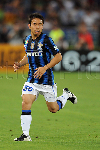 29.05.2011 Yuto Nagatomo (Inter) Coppa Italia (TIM Cup) Final match between Inter Milan 3-1 Palermo at Stadio Olimpico in Rome, Italy.