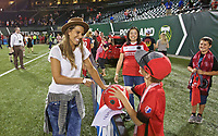 Portland, OR - Saturday August 19, 2017: Tobin Heath during a regular season National Women's Soccer League (NWSL) match between the Portland Thorns FC and the Houston Dash at Providence Park.