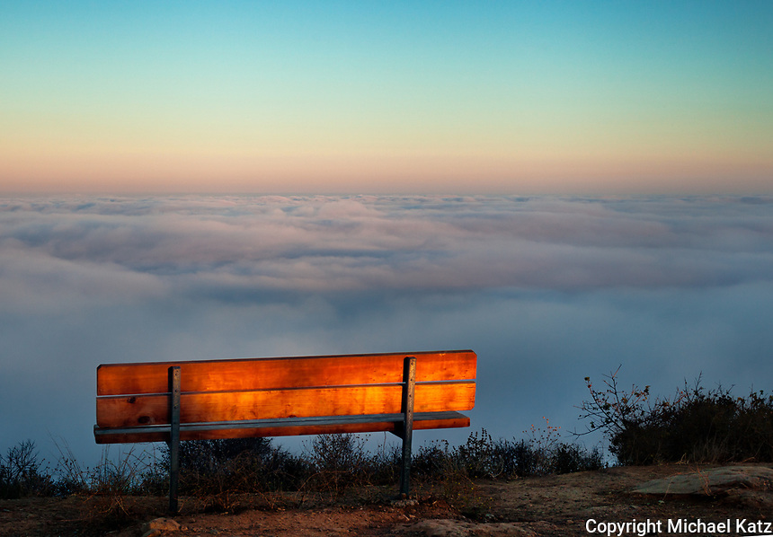 Bench and Cloud Bank, Parker Mesa Overlook