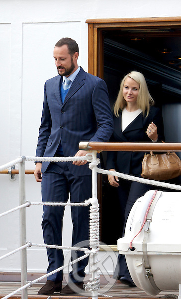"Crown Prince Haakon, and Crown Princess Mette Marit of Norway on a three day visit to "" North Troms "",  in Northern Norway,Visit Olderdalen."