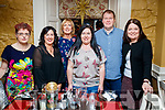 Mary Ellen Fitzgerald, Helen O'Brien, Ann Lucid, Lena Dennehy, Padraig Marshall and Tina McKenna, enjoying a friends night out at the Brogue Inn, Tralee on Saturday night last.