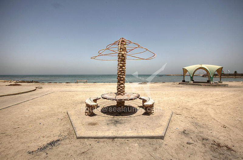 Pollution at Al Jazayer Beach, the beach is located on the south west coast of the island of Bahrain.