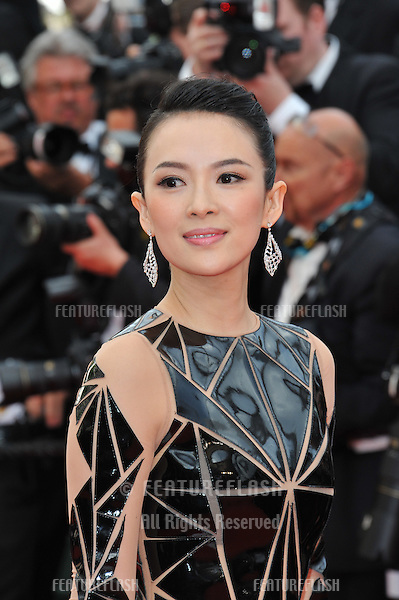 Zhang Ziyi at the gala premiere of &quot;Grace of Monaco&quot; at the 67th Festival de Cannes.<br /> May 14, 2014  Cannes, France<br /> Picture: Paul Smith / Featureflash