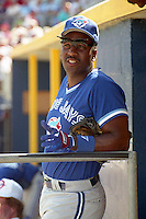 Toronto Blue Jays Joe Carter during spring training circa 1991 at Charlotte County Stadium in Port Charlotte, Florida.  (MJA/Four Seam Images)