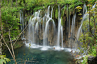 Waterfall detail in the upper lakes area of Plitvice Lakes NP, Croatia