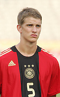 Germany's Lars Bender (5) stands on the field before the match against Brazil during the FIFA Under 20 World Cup Quarter-final match at the Cairo International Stadium in Cairo, Egypt, on October 10, 2009. Germany lost 2-1 in overtime play.