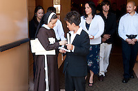 St. Sebastian Catholic Church, Los Angeles, First Holy Communion.  Saturday May 22,2010(05/22/10).  English mass