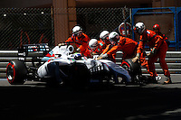 Motorsports: FIA Formula One World Championship 2014, Grand Prix of Monaco, <br /> #19 Felipe Massa (BRA, Williams Martini Racing),  *** Local Caption *** © pixathlon<br /> <br /> MONTE CARLO, MONACO, 24.05.2014 - F1 - TREINO CLASSIFICATORIO - MONTE CARLO - O piloto brasileiro Felipe Massa da equipe Williams Martini Racing durante o treino classificatorio para o Grande Premio de Monaco, neste sabado, 24. (Foto: Pixathlon / Brazil Photo Press).