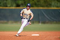Mount St. Mary's Mountaineers right fielder Ryan Fisher (44) rounds the bases after hitting a home run during a game against the Ball State Cardinals on March 9, 2019 at North Charlotte Regional Park in Port Charlotte, Florida.  Ball State defeated Mount St. Mary's 12-9.  (Mike Janes/Four Seam Images)