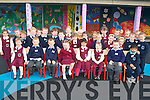 The girls of St Mary's Presentation and the Boys NS Castleisland on their First day of School on Monday..   Copyright Kerry's Eye 2008