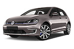 Stock pictures of low aggressive front three quarter view of a 2015 Volkswagen Golf GTE 5 Door Hatchback 2WD Low Aggressive