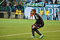 MONTERIA - COLOMBIA, 22-07-2018:  Jose Cuadrado arquero del Once en acción durante partido entre Jaguares FC y Once Caldas por la fecha 1 de la Liga Águila II 2018 jugado en el estadio Municipal de Montería. / Jose Cuadrado goalkeeper of Once in action during the match between Jaguares FC and Once Caldas for the date 1 of the Liga Aguila II 2018 at the Municipal de Monteria Stadium in Monteria city . Photo: VizzorImage / Andres Felipe Lopez / Cont