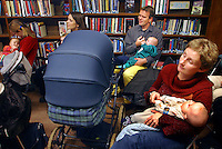 "An activity aimed at the parents rather than the babies, libraries invite authors to read on special ""book 'n' baby"" days..In contrast to most European countries, the Norwegian birth rate is a healthy 1.9. Norway's reputation as a child friendly society is partially founded on a succession of government initiatives to improve parents' rights and economic circumstances."