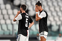 Miralem Pjanic and Cristiano Ronaldo of Juventus during the Serie A football match between Juventus FC and US Lecce at Juventus stadium in Turin  ( Italy ), June 26th, 2020. Play resumes behind closed doors following the outbreak of the coronavirus disease. Photo Andrea Staccioli / Insidefoto