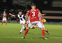 Lee Hodson has a shot at goal in the St Mirren v Hamilton Academical Scottish Professional Football League Ladbrokes Premiership match played at the Simple Digital Arena, Paisley on 1.12.18.