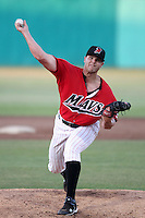 Stephen Pryor #26 of the High Desert Mavericks pitches against the Lake Elsinore Storm at Mavericks Stadium in Adelanto,California on June 12, 2011. Photo by Larry Goren/Four Seam Images