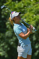 Danielle Kang (USA) watches her tee shot on 17 during round 2 of the 2018 KPMG Women's PGA Championship, Kemper Lakes Golf Club, at Kildeer, Illinois, USA. 6/29/2018.<br /> Picture: Golffile | Ken Murray<br /> <br /> All photo usage must carry mandatory copyright credit (© Golffile | Ken Murray)