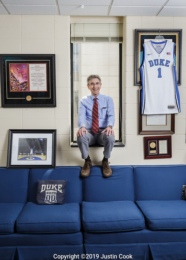 Portrait of Pulitzer Prize winner Dr. Robert J. Lefkowitz, M.D., Investigator, Howard Hughes Medical Institute, James B. Duke Professor of Medicine and Professor of Biochemistry and Chemistry in Durham, North Carolina, Tuesday, May 21, 2019  (Justin Cook)