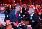 UTRECHT - Nationaal Golf Congres en Beurs 2017. NVG  motto: Like to Play & Love to stay.  Paul Wessel en Lodewijk Klootwijk en Tinus Vernooij. .  FOTO © Koen Suyk