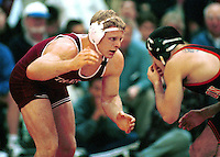 Chuck Fairbanks in action during the 1999 wrestling season at the Ford Center in Stanford, CA.